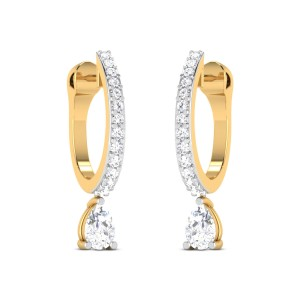 Garner Solitaire Hoop Earrings
