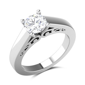 Lidia 4 Prong Solitaire Ring