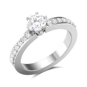 Manoel 6 Prong Solitaire Ring