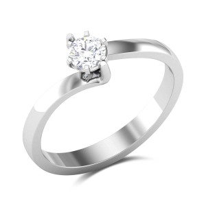 Zaira 6 Prong Twist Solitaire Ring