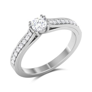 Hearty Solitaire Ring