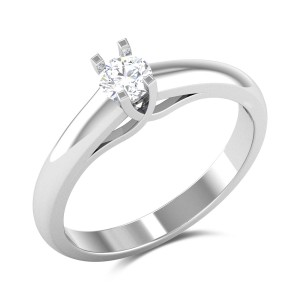 Aztec Crown 4 Prong Solitaire Ring