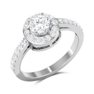 Plumerian Love Solitaire Ring
