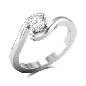 Twisted 6 Prong Solitaire Ring