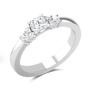 Impressive Dynamic Solitaire Ring