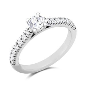 Elegant Prong Set Solitaire Ring