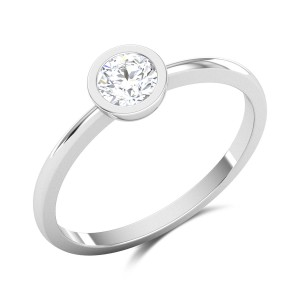 Battista Bezel Set Solitaire Ring