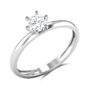 Azurine 6 Prong Solitaire Ring