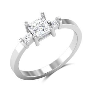 Amorita Princess Cut Solitaire Ring