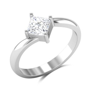 Alethea Princess Cut Solitaire Ring