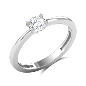 Aleta 4 Prong Solitaire Ring