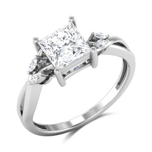 Albion Princess Cut Solitaire Ring