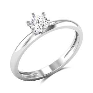 Maile 6 Prong Solitaire Ring