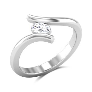 Kapono Oval Cut Solitaire Ring