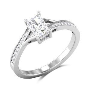 Adriano Radiant Cut Solitaire Ring