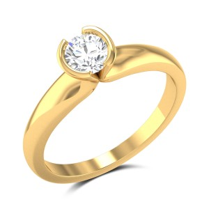 Tobiah Bezel Setting Solitaire Ring