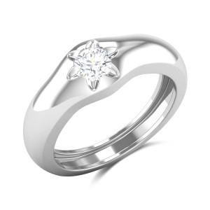 Amina Bezel Set Solitaire Ring