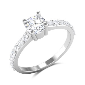 Aldrich 4 Prong Solitaire Ring