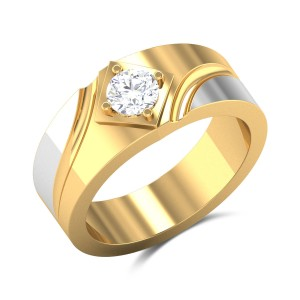 Prescott Two Tone Solitaire Ring
