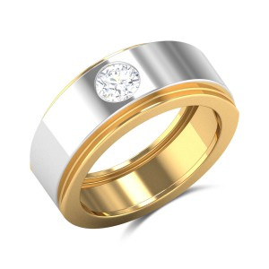 Cosimia Two Tone Solitaire Ring