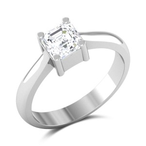 Oberon Emerald Cut Solitaire Ring