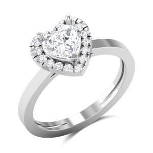 Malachy Heart Cut Solitaire Ring