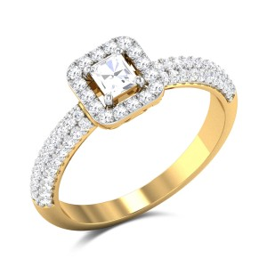 Gelsomina Emerald Cut Solitaire Ring