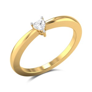Giustina Heart Cut Solitaire Ring