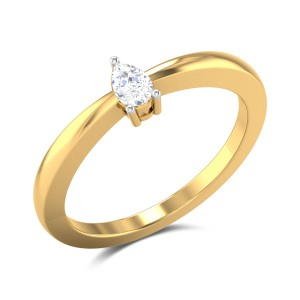 Gioacchina Pear Cut Solitaire Ring