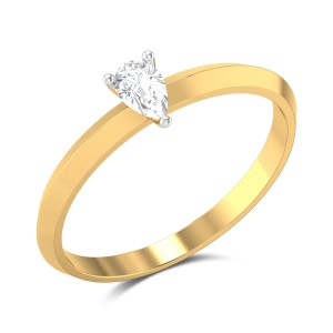 Gilia Pear Cut Solitaire Ring