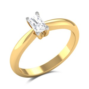 Gertrudis Emerald Cut Solitaire Ring