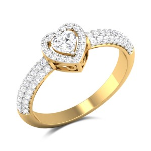 Gladyce Heart Cut Solitaire Ring