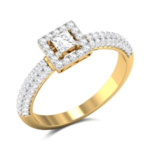 Geneviva Princess Cut Solitaire Ring
