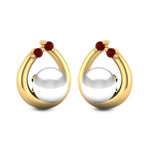 Cattleya Pearl Stud Earrings