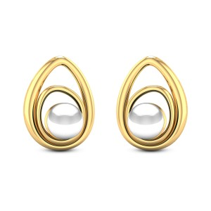 Heliconia Pearl Stud Earrings