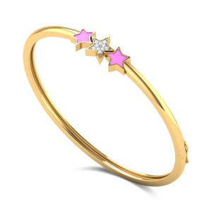 3 Stars Kids Diamond Bangle