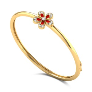 Imola Kids Floral Diamond Bangle