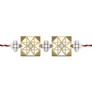 First Love Diamond Rakhi Set