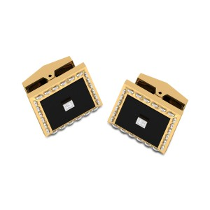 Jai Black Onyx Diamond Cufflinks