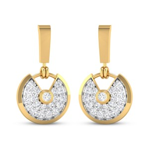 Running Clock Diamond Earrings