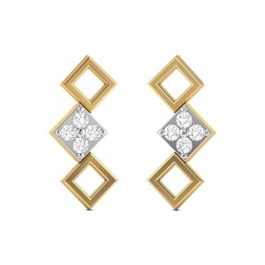 Interior Angle Diamond Earrings