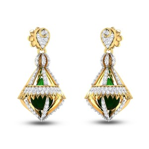 Pachysandra Diamond Earrings