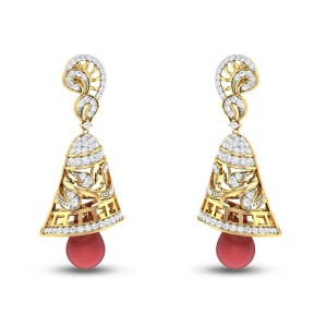 Ruby Dancing Bells Diamond Earrings