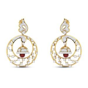 Achillea Drop Diamond Earrings