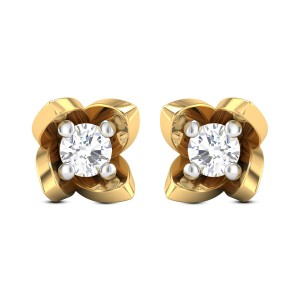 Blossoming Solitaire Stud Earrings