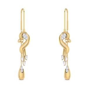 Janaliz Peacock Sui Dhaga Diamond Earrings