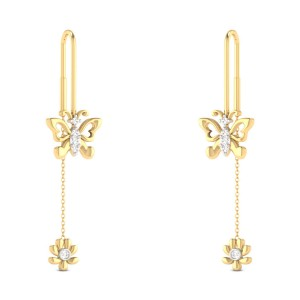 Jamye Butterfly Sui Dhaga Diamond Earrings
