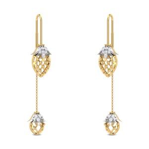 Jasayla Floral Sui Dhaga Diamond Earrings