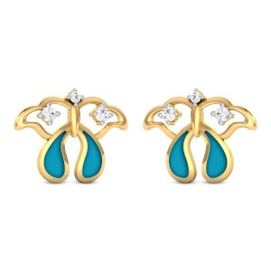 Jolana Butterfly Diamond Stud Earrings