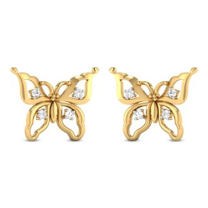 Joelene Butterfly Diamond Stud Earrings